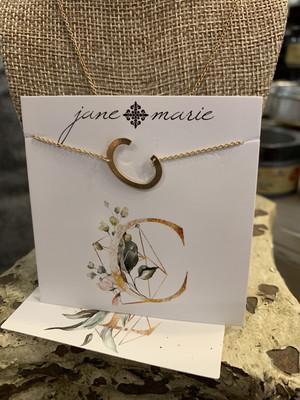 JM Initial C Necklace