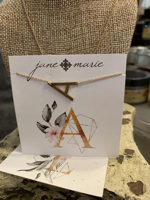 JM Initial A Necklace