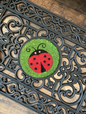 Rubber Mat Inlay Circle Lady Bug