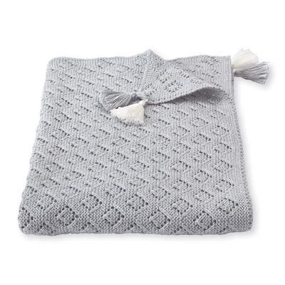 Grey Knit Blanket