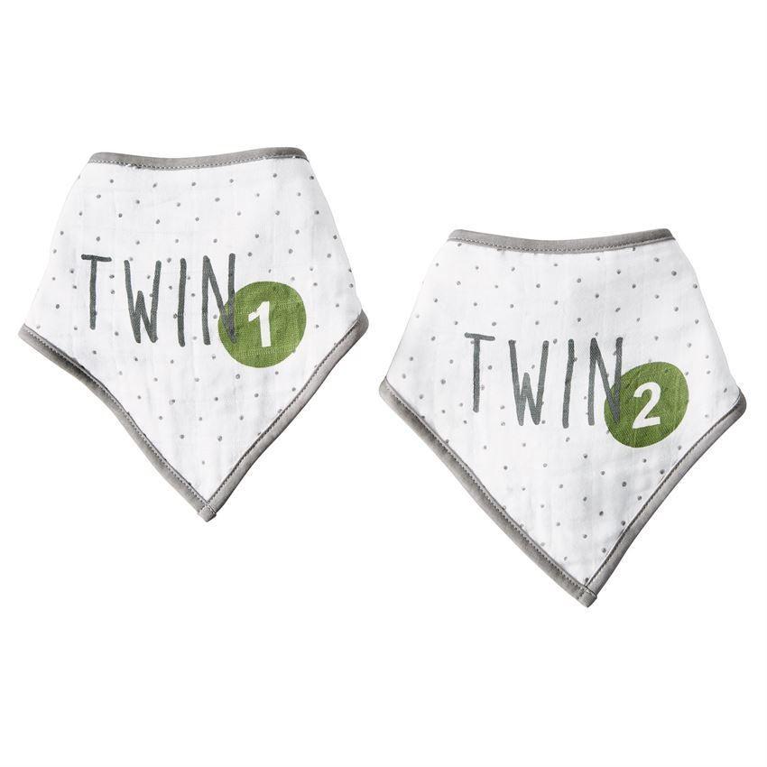 Twin 1 Twin 2 Muslin Bib