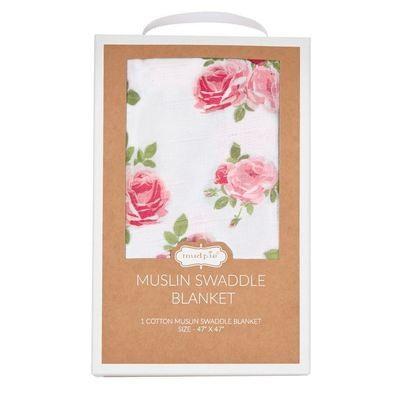 Muslin Swaddle Blanket - Rose