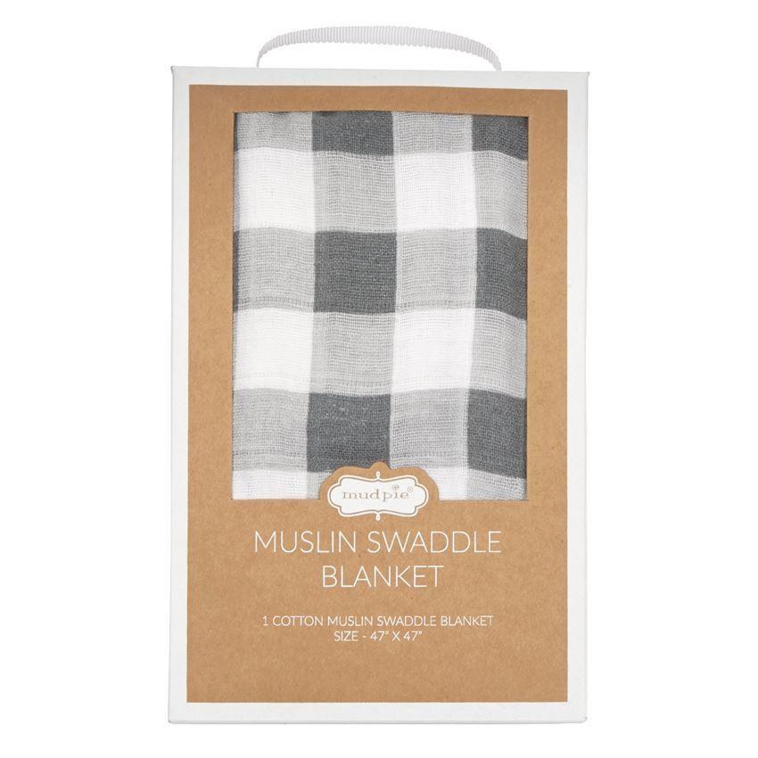 Muslin Swaddle Blanket - Gingham
