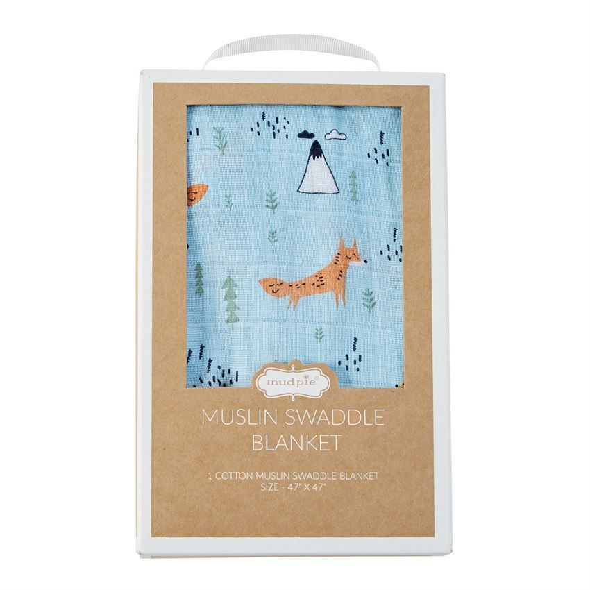 Muslin Swaddle Blanket - Fox