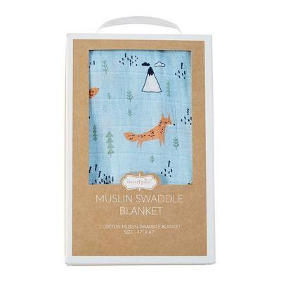 Muslin Swaddle Blanket - Fox