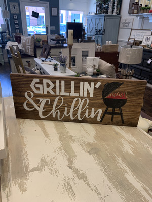TPG Grillin' & Chillin' Wood Sign