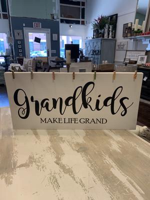 TPG Grandkids Make Life Grand Wood Sign