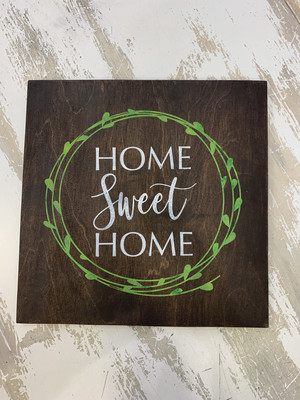 TPG Home Sweet Home Wood Sign