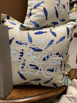 The Best Memories Are Made At The Beach Pillow