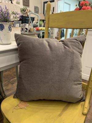 Velvet Pillow Oatmeal Backing