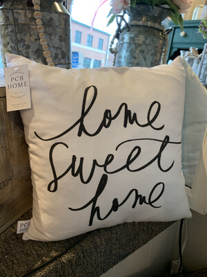 PCB Home Sweet Home Pillow White