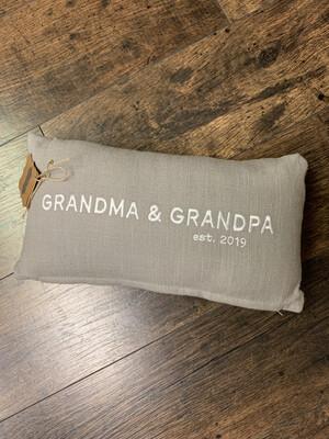 Grandma & Grandpa Lumbar Pillow