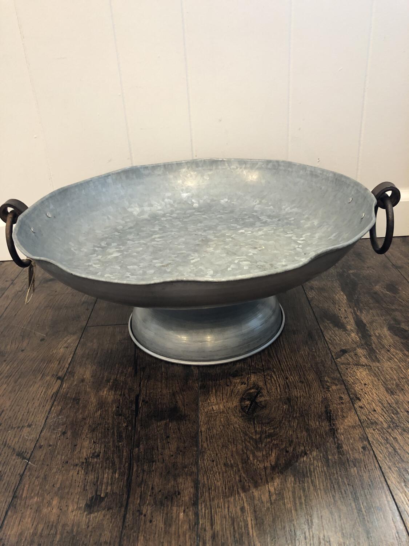 Tin Pedestal Bowl