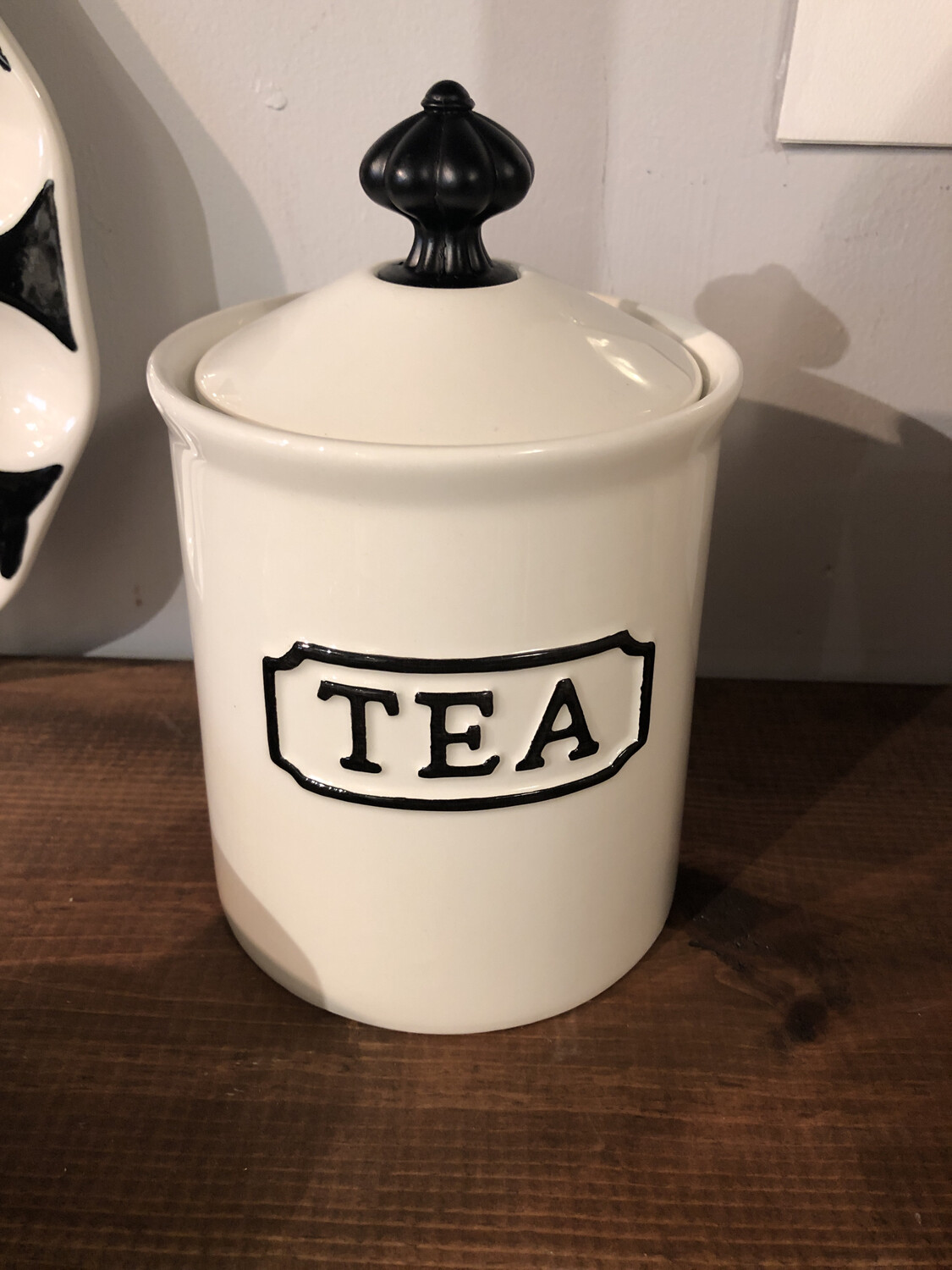 Black And White Tea Canister