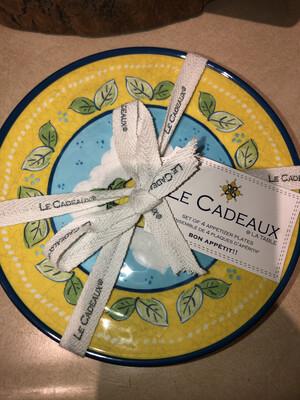 Le Cadeaux CITRONE APPETIZER PLATES (SET OF 4)