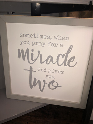 God Gives You Two Plaque