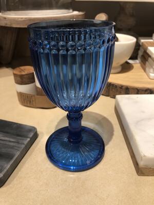 Le Cadeaux MILANO WINE GLASS 11 OZ. BLUE