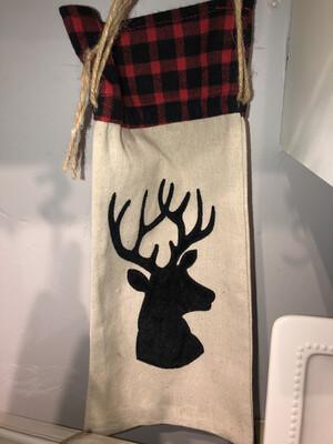 Deer Red Buffalo Wine Bag