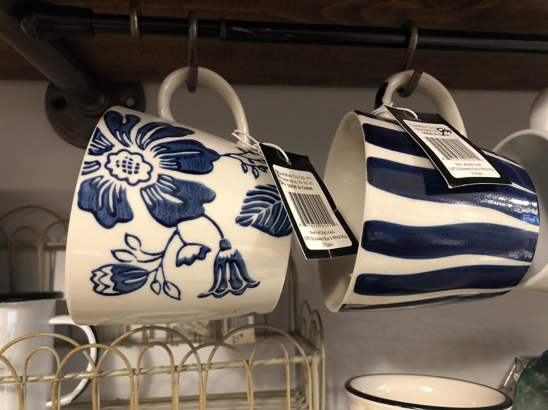 Blue And White Mug Stoneware