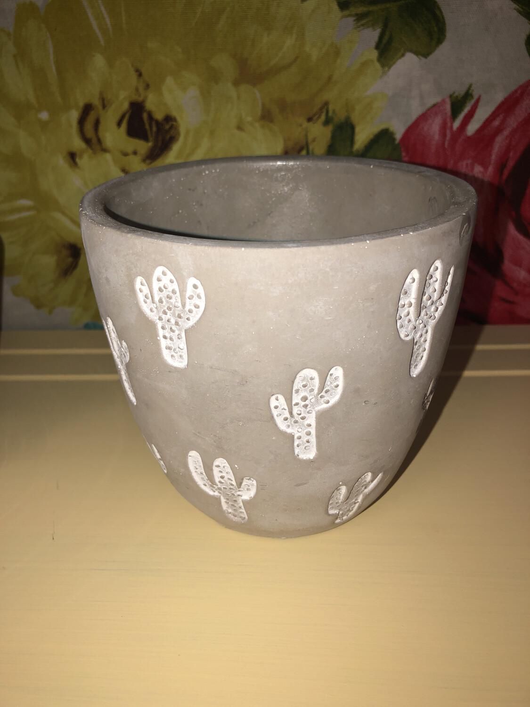 Cactus Cement Pot large
