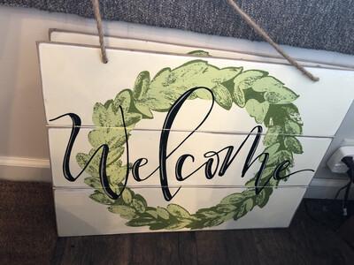Welcome Door Hanger