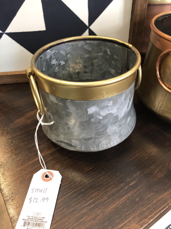 Metal Tin Pots Small