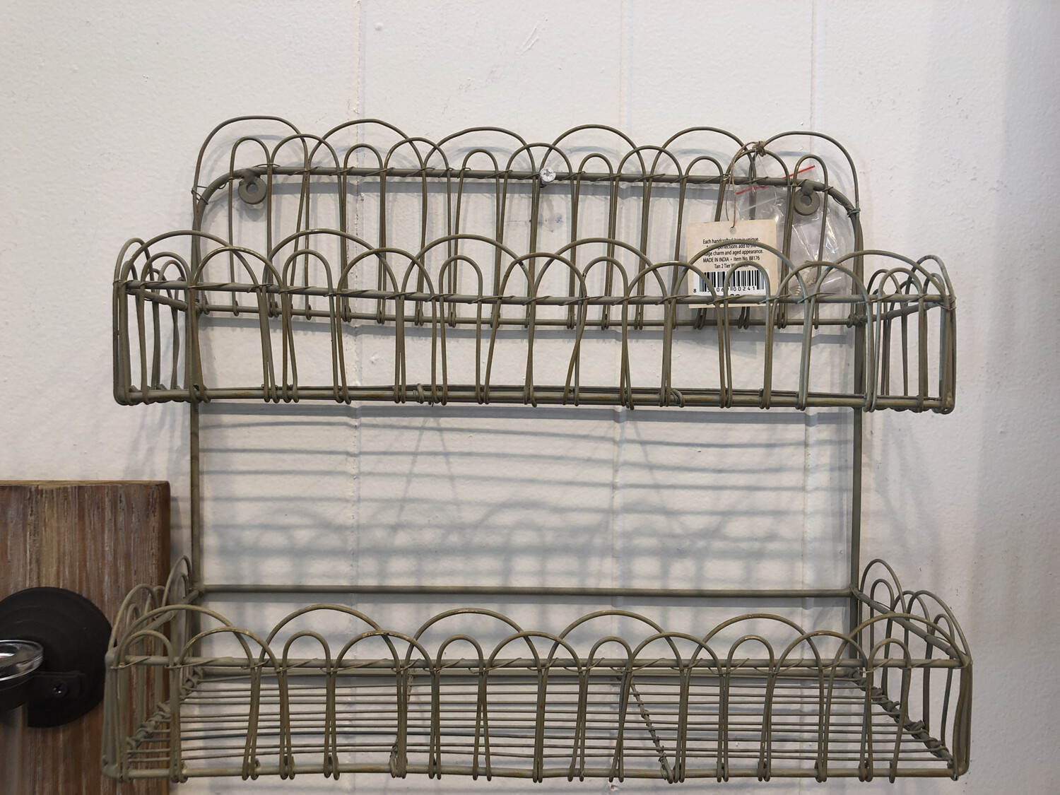 Wire Two Tier Wall Hanging Basket