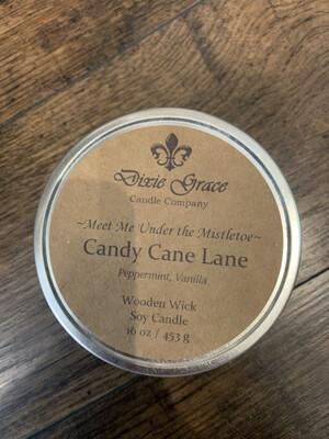 Dixie Grace Candle Candy Cane Lane 16 oz.