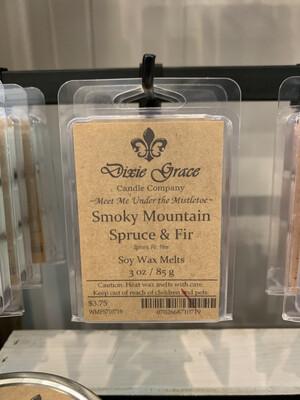 Dixie Grace Wax Melt Smokey Mountain Spruce & Fir 3 oz.