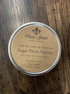 Dixie Grace Candle Sugar Plum Fairies 16 oz.