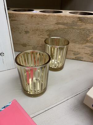 Gold Stripe Jar