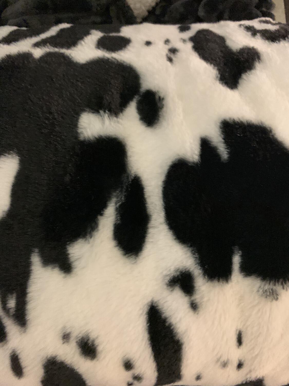 Cow Skin Sherpa Blanket
