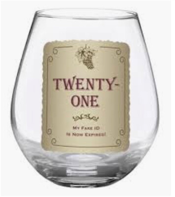 Wine Glass 21st Birthday