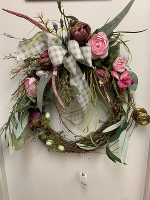 MP Pink Peony Wreath