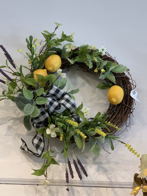 MP Black With Lemons Wreath