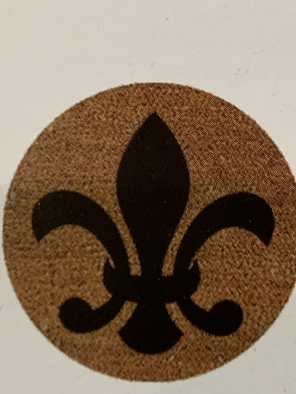 Rubber Mat Inlay Circle Fleur De Lis