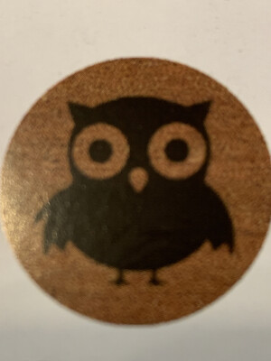 Rubber Mat Inlay Circle Owl