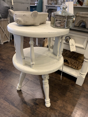SSC Cream Round Two Tier Side Table