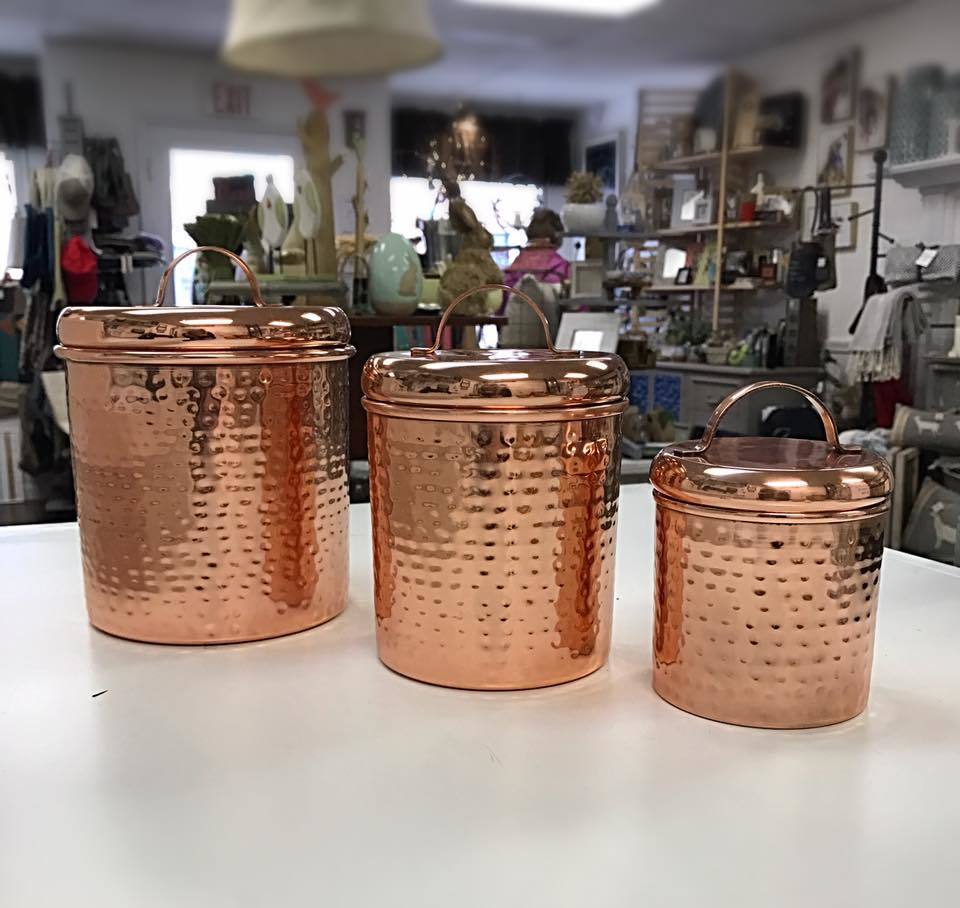 Set Of Rose Gold Canister S 13051740399