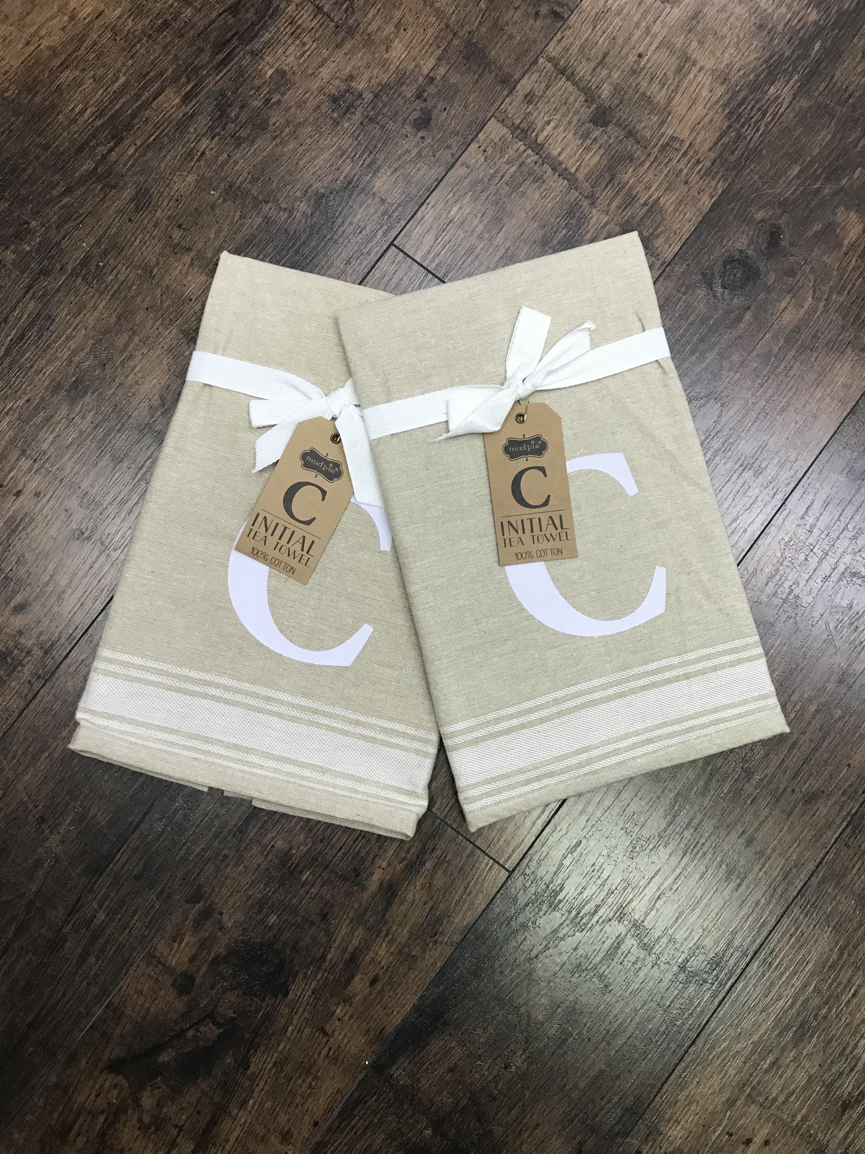C Initial Tea Towel 718540380390