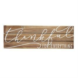 Thankful For Everything Wood Sign 718540396988