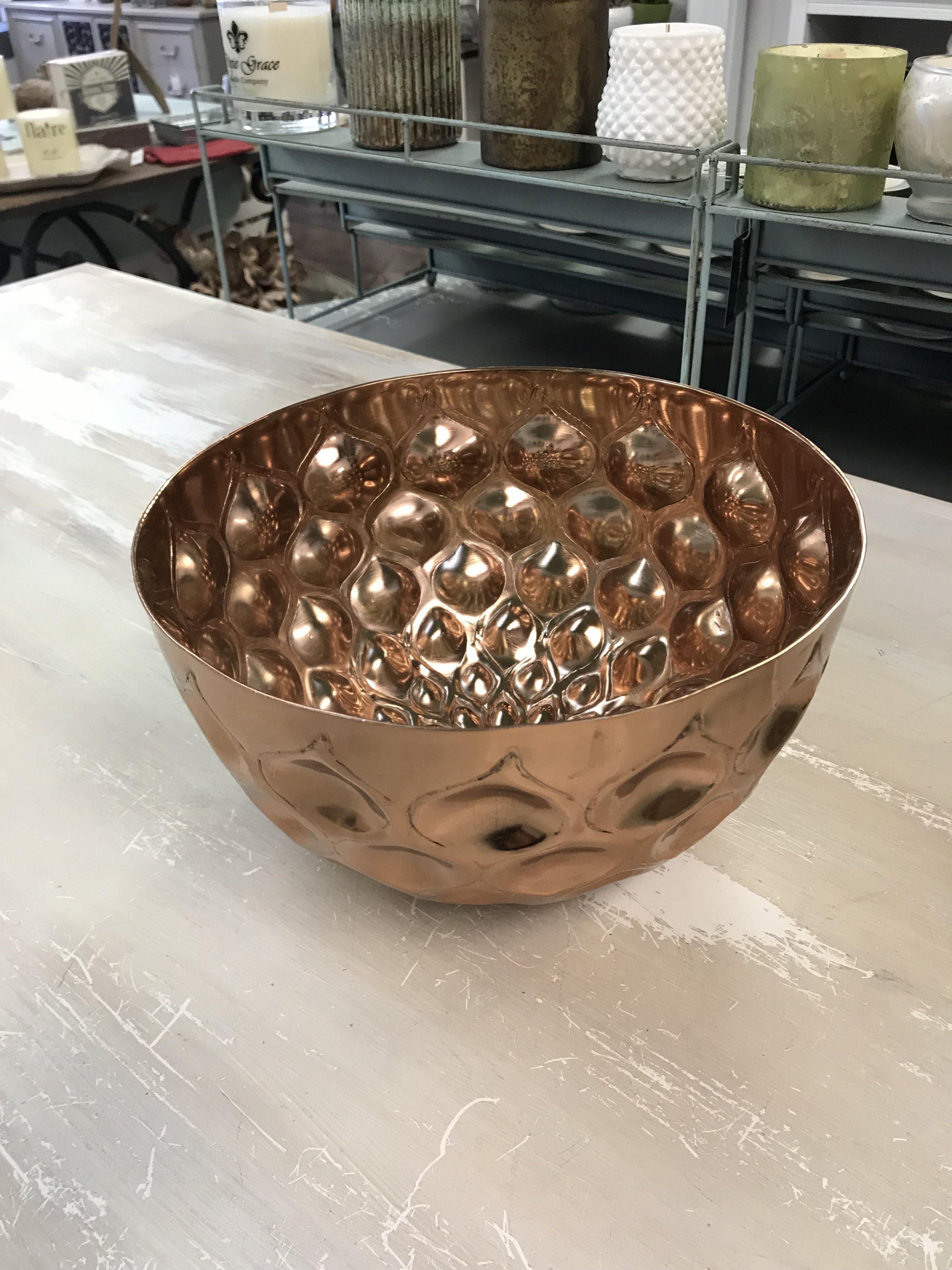 Large Rose Gold Copper Bowl 013051720520