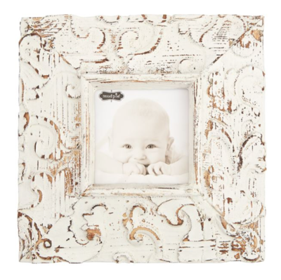Square White Antique Frame