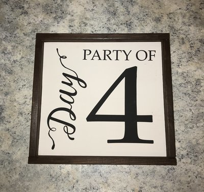 RCC Custom Handmade Party Of Wood Sign