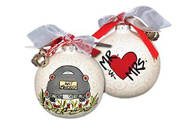 Magnolia Lane Just Married Mr & Mrs Ornament 683731617008