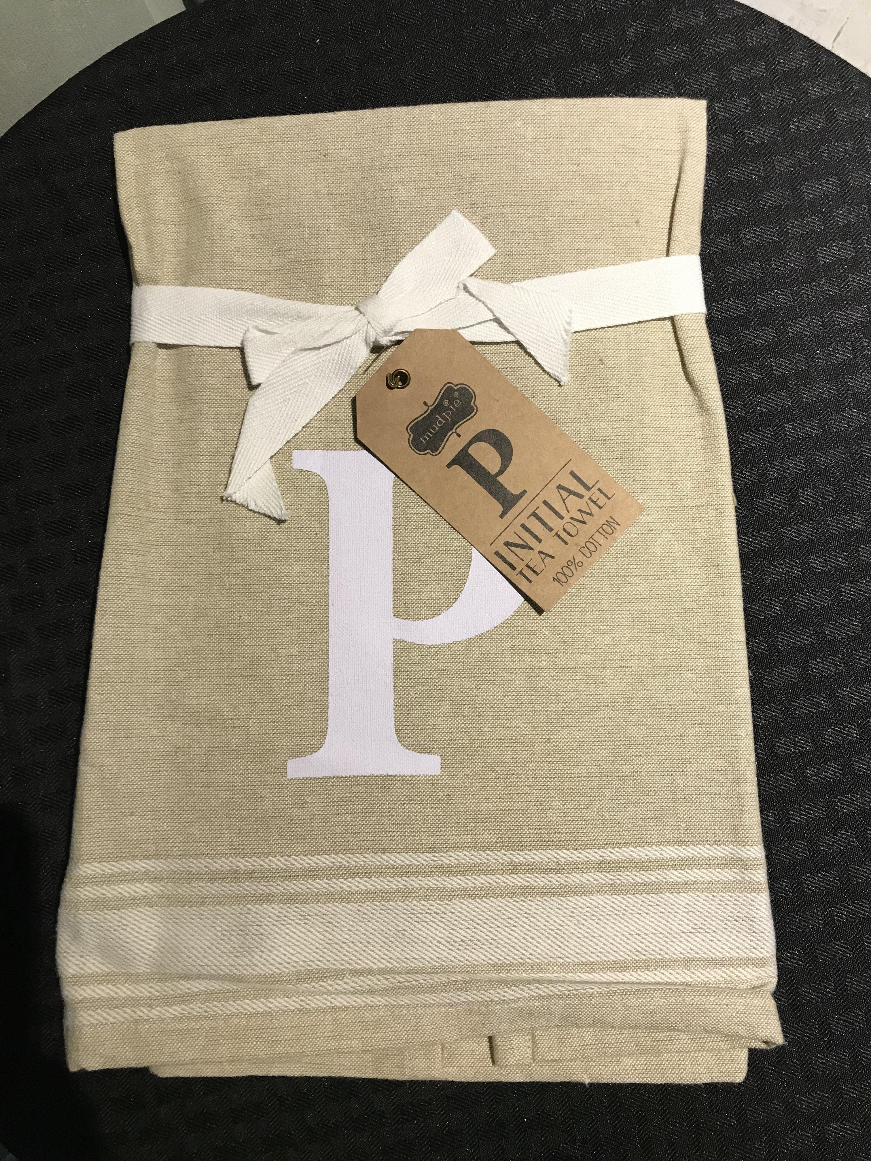 P Initial Tea Towel 718540380505