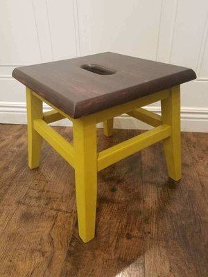 OLG Mustard Wood Step Stool