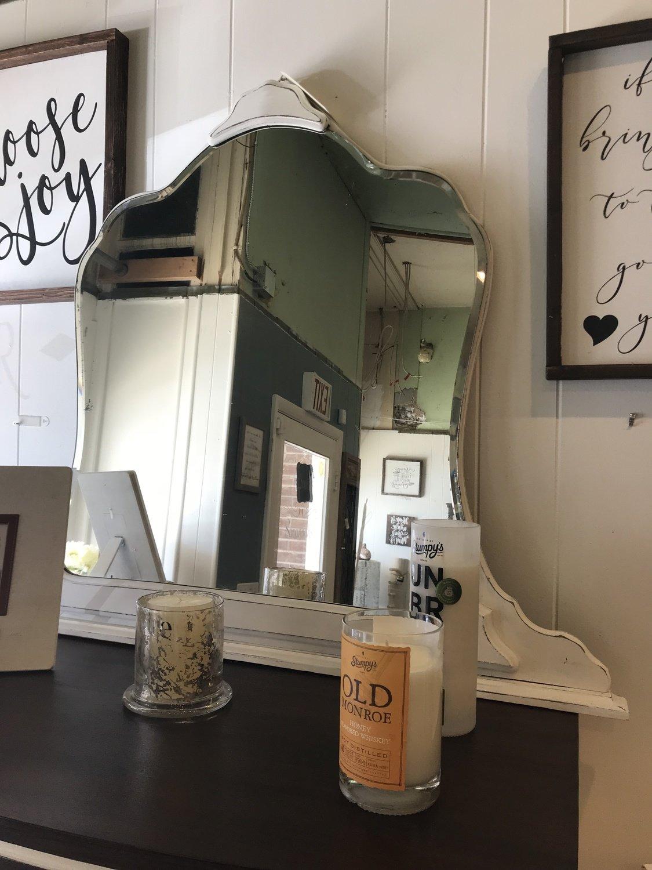 FGF White Antique Mirror