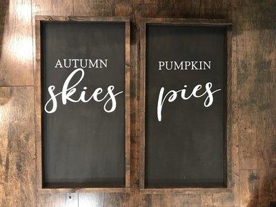 Set Of 2 Autumn Skies Pumpkin Pies