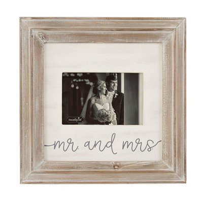 Mr & Mrs Small Frame Natural Wood